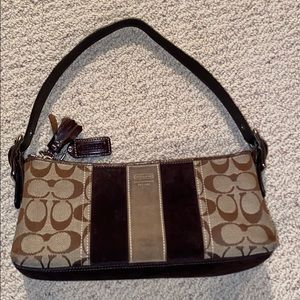 Coach cute small purse with thick buckle strap